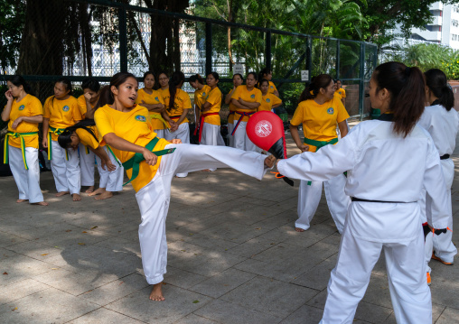 Karate training for philipino maids, Special Administrative Region of the People's Republic of China, Hong Kong, China