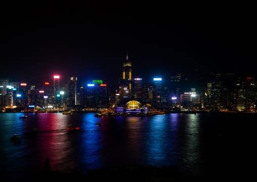 View of skyline at night, Special Administrative Region of the People's Republic of China, Hong Kong, China