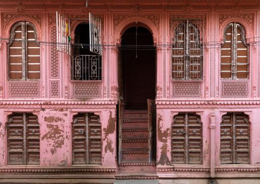 Beautiful haveli in the old city, Rajasthan, Bikaner, India