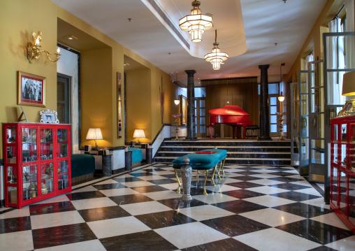 Lobby in Narendra Bhawan hotel, Rajasthan, Bikaner, India