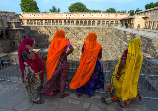 Rajasthani women in Chand Baori stepwell, Rajasthan, Abhaneri, India