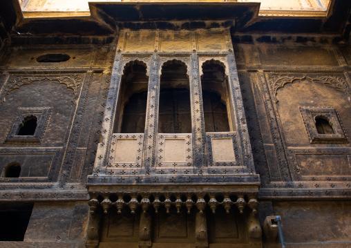 Balcony in suraj haveli hotel, Rajasthan, Jaisalmer, India