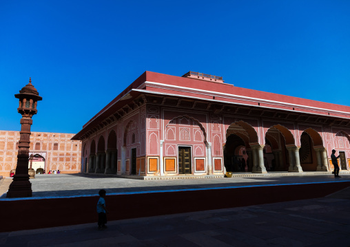 Diwan-i-khas was a private audience hall of the maharajas in the city palace, Rajasthan, Jaipur, India