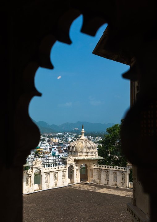 City view from the city palace, Rajasthan, Udaipur, India