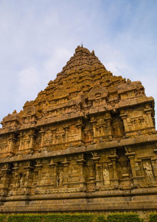 Low Angle View Of The Tower Of The Brihadishwara Temple, Gangaikondacholapuram, India