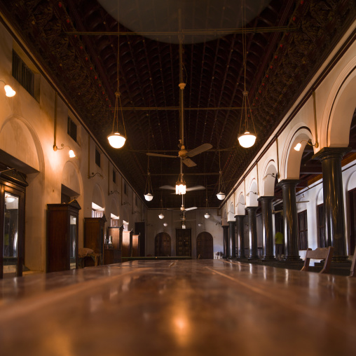 Well Decorated Front Hall Of A Grand House In Kanadukathan Chettinad, India