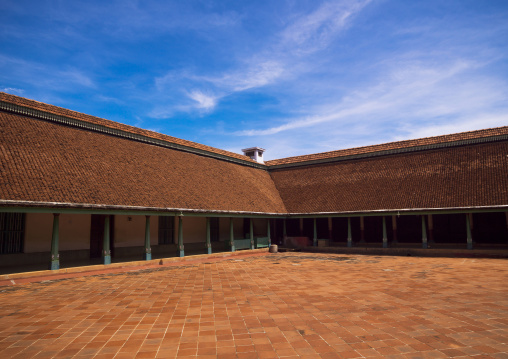 View Of The Inner Courtyard In The Chettinad Palace, Kanadukathan Chettinad, India