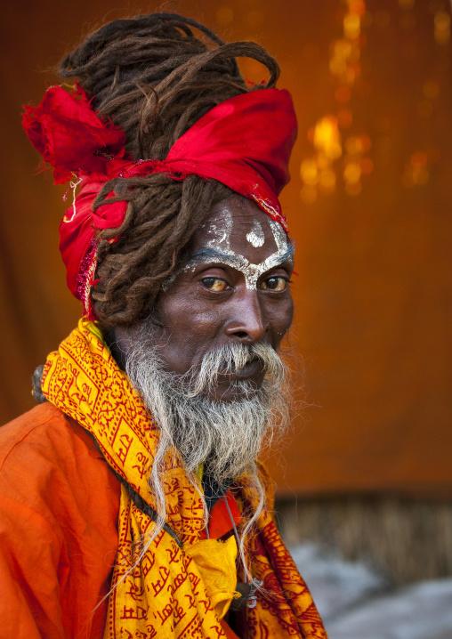 Naga Sadhu In Juna Akhara, Maha Kumbh Mela, Allahabad, India