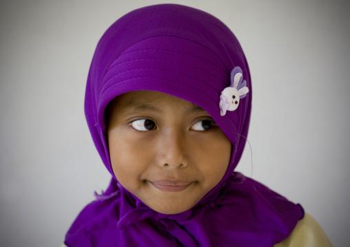 Muslim girl , Java island indonesia