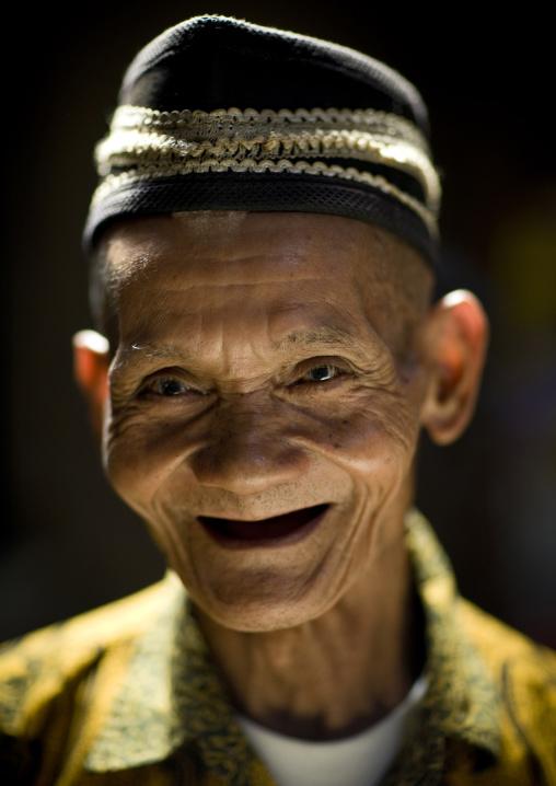 Old man in java island indonesia