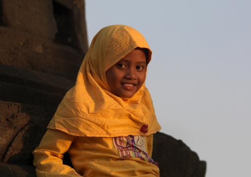 Young girl in java island indonesia
