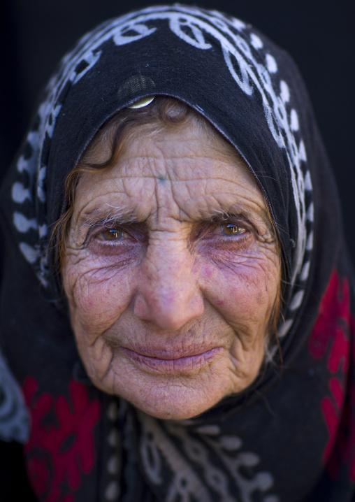 Old kurdish woman, Palangan, Iran