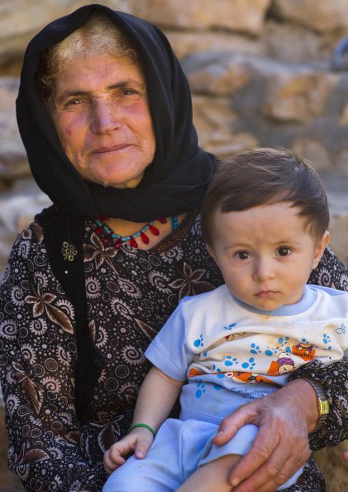 Kurdish mother and her baby, Palangan, Iran