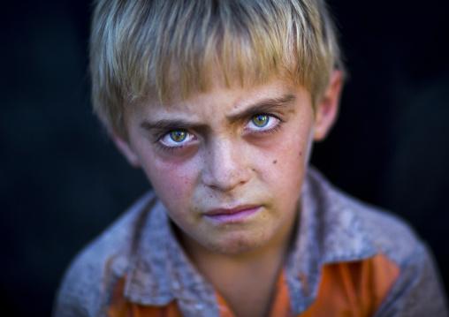 Kurdish boy with blue eyes, Palangan, Iran