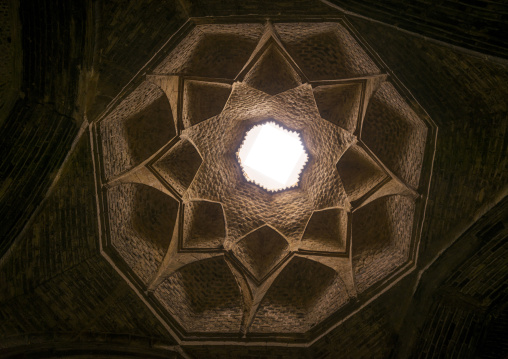 Ceiling with its intricate and elaborate patterns in friday mosque, Isfahan province, Isfahan, Iran