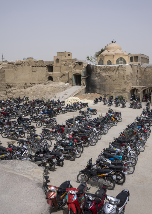 Parking in the old town, Isfahan province, Isfahan, Iran