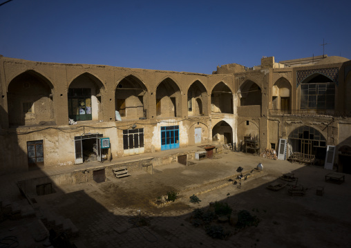 Caravanserai courtyard in the bazaar, Isfahan province, Kashan, Iran