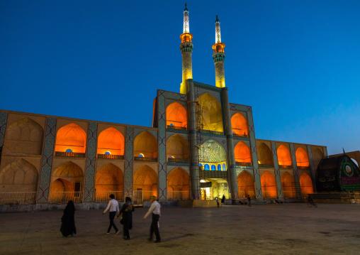 The three-storey takieh part of the Amir chakhmaq complex, Yazd Province, Yazd, Iran