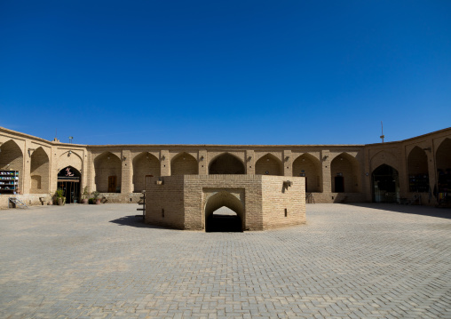 Old caravanserai turned into a museum and a shopping gallery, Yazd Province, Meybod, Iran