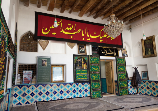Jame mosque decorated for ashura, Natanz county, Abyaneh, Iran