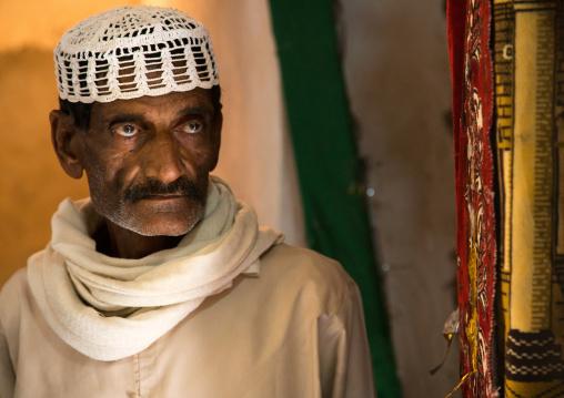 portrait of a muslim man in traditional clothing, Qeshm Island, Tabi, Iran