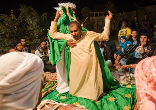 man in trance during a zar ceremony, Qeshm Island, Salakh, Iran