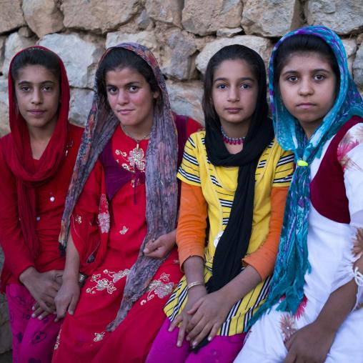 Teenagers From The Old Kurdish Village Of Palangan, Iran