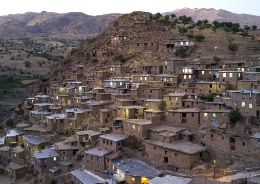 Old Kurdish Village Of Palangan At Dusk, Iran