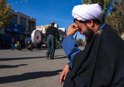 Iranian Shiite Muslim Mullah Crying During Ashura, The Day Of The Death Of Imam Hussein, Kurdistan Province, Bijar, Iran