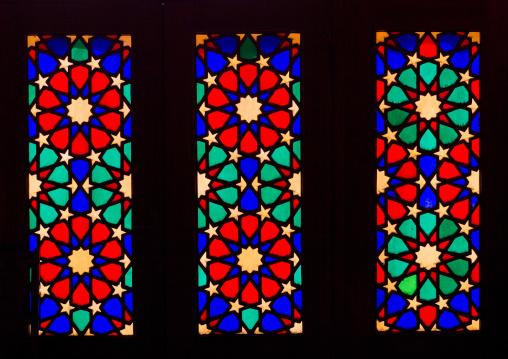 Stained Glass Windows In The Shah-e-cheragh Mausoleum, Fars Province, Shiraz, Iran