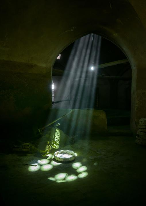 Sunlight Into A Traditional Henna Mill, Yazd Province, Yazd, Iran