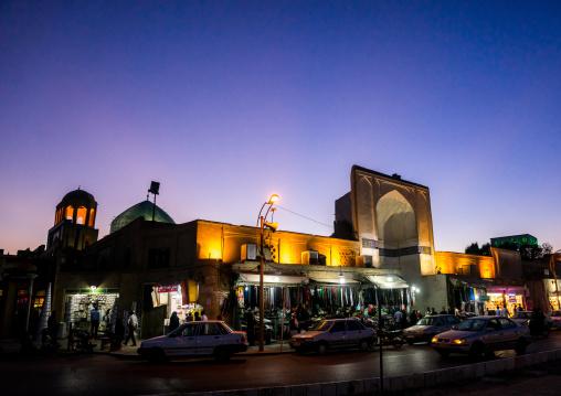 Amir Chakhmagh Square At Dusk, Yazd Province, Yazd, Iran