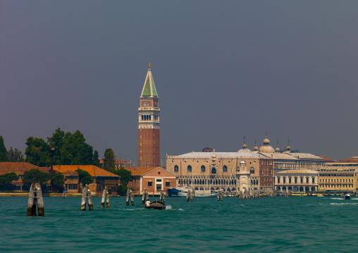 Piazza san Marco with campanile di san Marco, Veneto Region, Venice, Italy