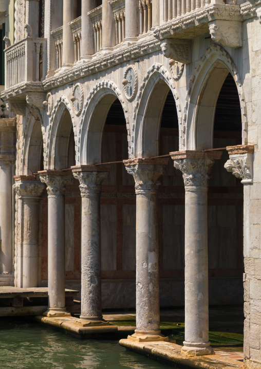 Ca' d'oro palace arches, Veneto Region, Venice, Italy