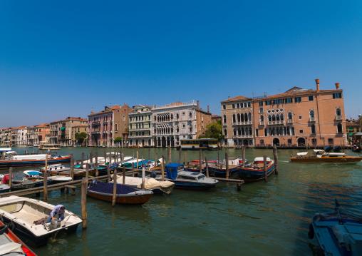 Boats in the grand canal, Veneto Region, Venice, Italy