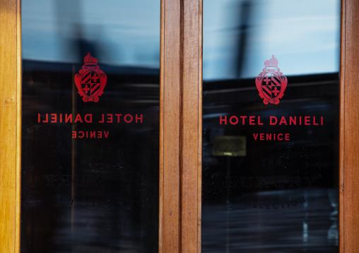 Danieli hotel entrance door, Veneto, Venice, Italia