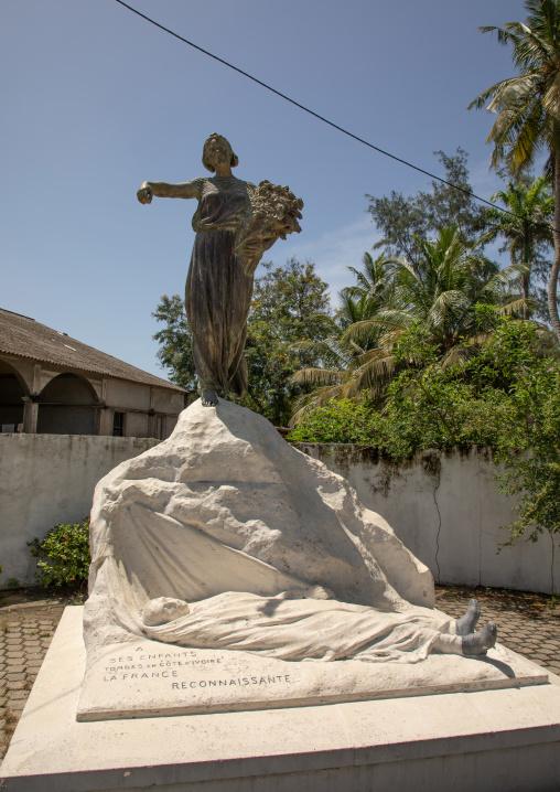 Memorial commemorating the victims of yellow fever, Sud-Comoé, Grand-Bassam, Ivory Coast