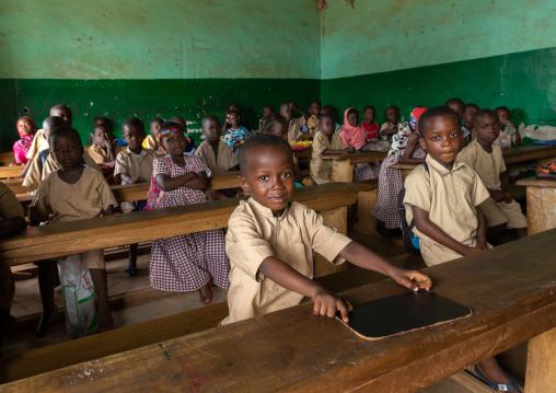 African children in a koranic school classroom, Tonkpi Region, Man, Ivory Coast