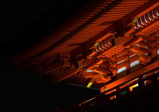 Fushimi inari taisha temple by night, Kansai region, Kyoto, Japan