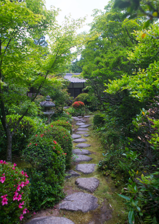 Garden in koto-in zen buddhist temple in daitoku-ji, Kansai region, Kyoto, Japan