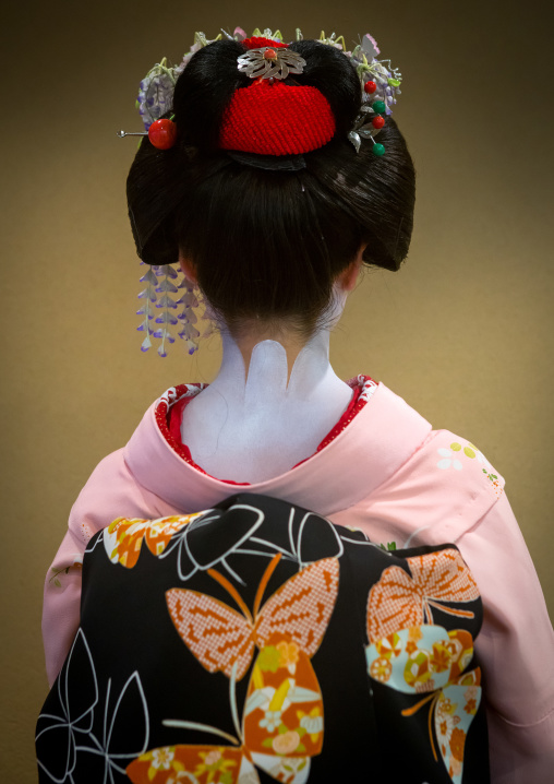 16 Years old maiko back called chikasaya, Kansai region, Kyoto, Japan