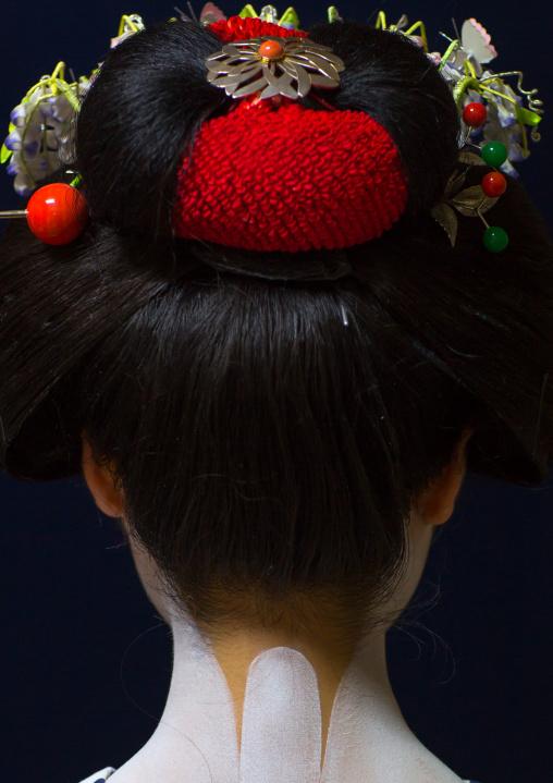 16 Years old maiko called chikasaya neck, Kansai region, Kyoto, Japan