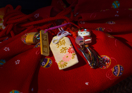 Hello kitty key ring of a 16 years old maiko called chikasaya, Kansai region, Kyoto, Japan