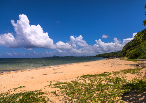 Empty Uganzaki north beach, Yaeyama Islands, Ishigaki, Japan