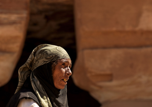 Bedouin Woman In Petra, Jordan