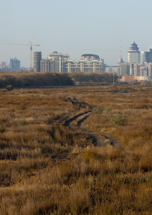 Astana Viewed From The Steppe, Kazakhstan