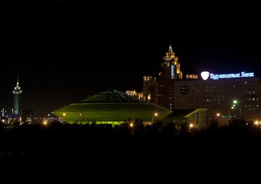 Ufo Shaped Circus By Night, Astana, Kazakhstan
