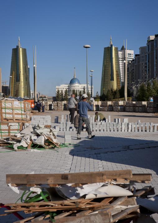 Roadworks In Astana Streets, Kazakhstan