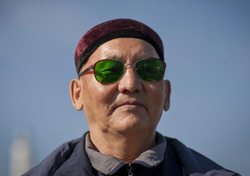 Muslim Man Wearing Sunglasses, Astana, Kazakhstan