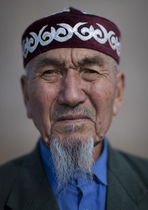 Mister Ramazan, Ethnic Kazakh Old Man Coming Back From Mecca, Astana, Kazakhstan
